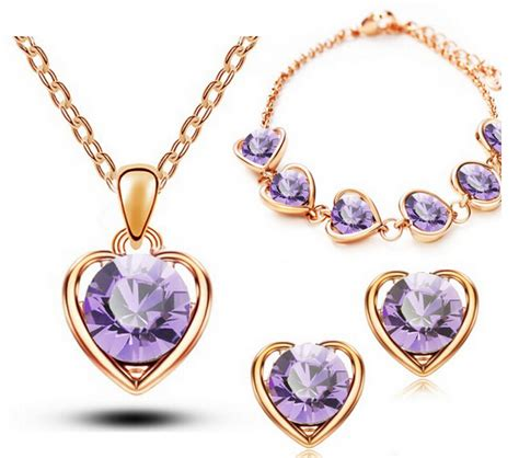 new arrival fashion style gold plated alloy snake shape heart shaped jewelry set free shipping worldwide