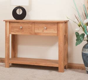 Slim Oak Sideboard by Oak Table Slim Sideboard 2 Drawers Handmade To