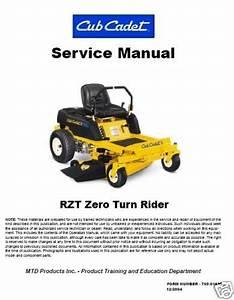Cub Cadet Rzt22 Service Manual