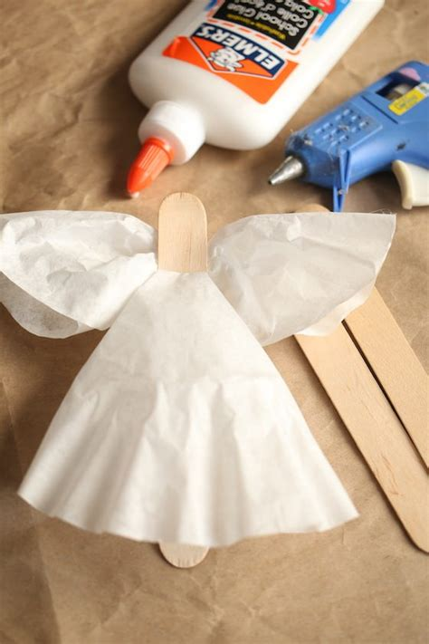 Why are coffee filters good? Easy Coffee Filter Angel Craft and Ornament For Kids - Happy Hooligans