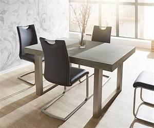 Sofa Für Esszimmertisch : esszimmertisch zement grau 140x90 cm gestell breit beton ~ Michelbontemps.com Haus und Dekorationen