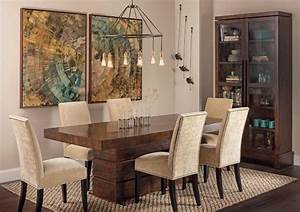 rustic modern tahoe dining table eclectic dining With rustic modern dining room ideas