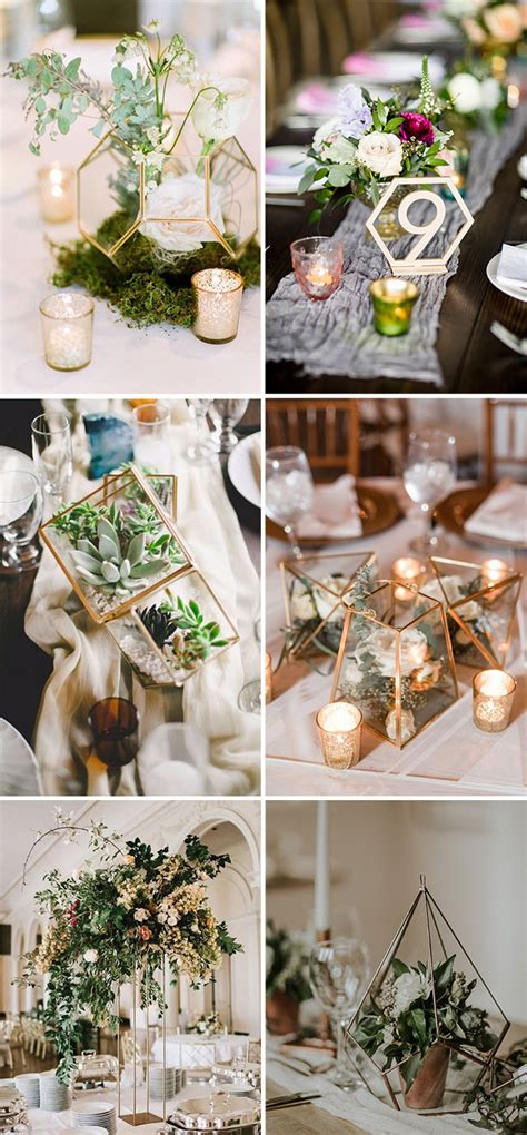 trendy geometric wedding ideas  modern brides elegantweddinginvitescom blog
