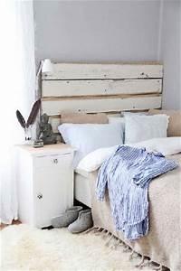 Tete De Lit Bois Vieilli : tete de lit bois blanc vieilli table de lit ~ Teatrodelosmanantiales.com Idées de Décoration