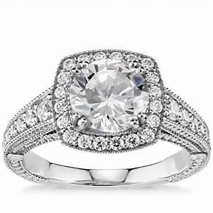 blue nile studio east west oval halo diamond engagement With wedding rings blue nile