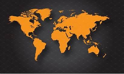 Map Orange Vector Global Creativemarket Creative Template