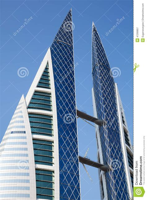 Bahrain World Trade Center, Manama Editorial Photography ...