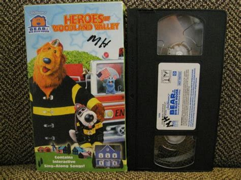Bear In The Big Blue House Heroes Firefighter Vhs Video
