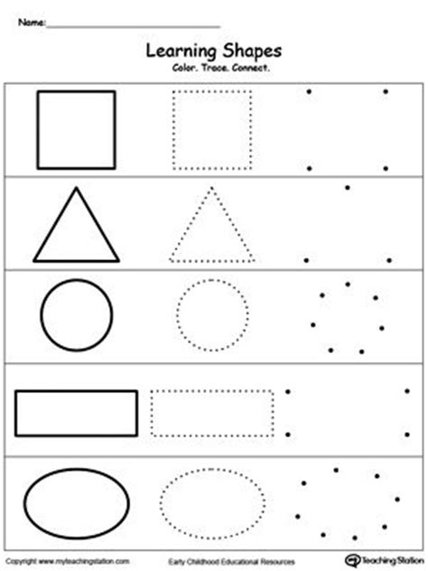 learning basic shapes color trace  connect shapes