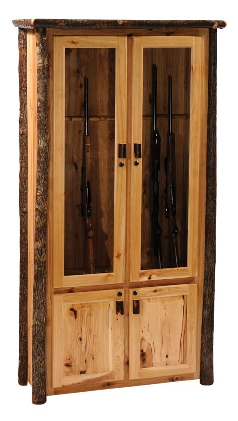 Gun Cabinet by Hickory 8 Gun Cabinet From Fireside Lodge 86801 H