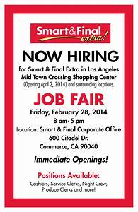Oil Change Template Smart Final Mid Town Crossing Now Hiring Job Fair