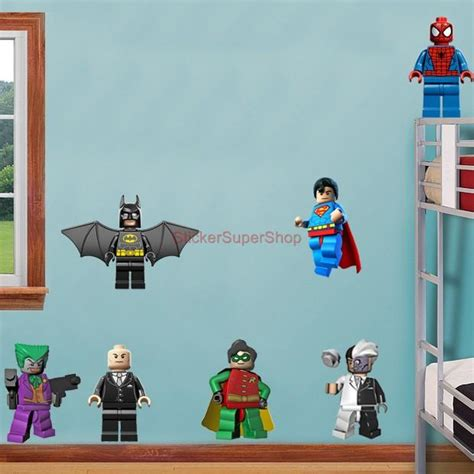 Lego Batman 11 Characters Decal Removable Wall Sticker