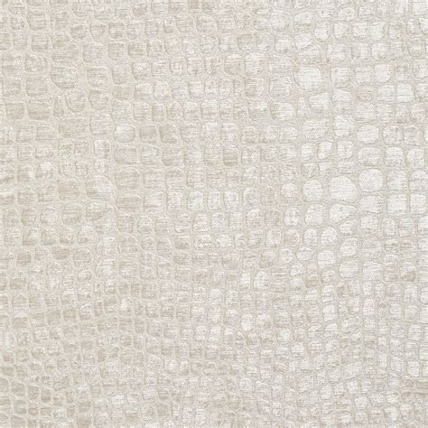 White Upholstery a0151e white textured alligator woven velvet