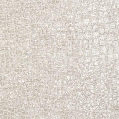 Pearl White Shiny Reptile Skin Look Velvet Upholstery Fabric