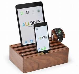 Usb Ladestation Für Mehrere Geräte : alldock h lzerne ladestation f r smartphones tablets und die apple watch ~ Orissabook.com Haus und Dekorationen