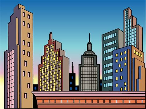 City Cartoon Background Images