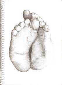 Baby Feet Drawings Sketches