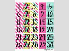 6 Best Images of Free Printable Calendar Month Numbers
