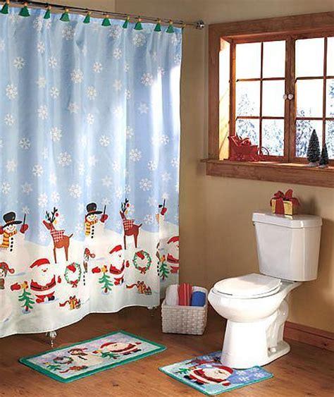 christmas bath set shower curtain  shower hooks
