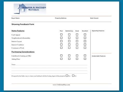 broker open house feedback form real estate buyer agency agreements presentation