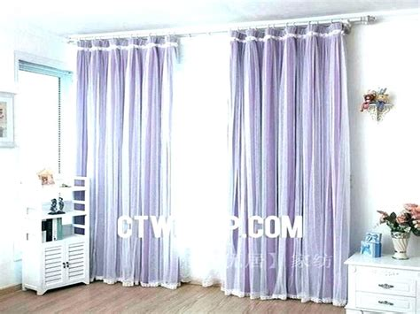 Purple And White Curtains