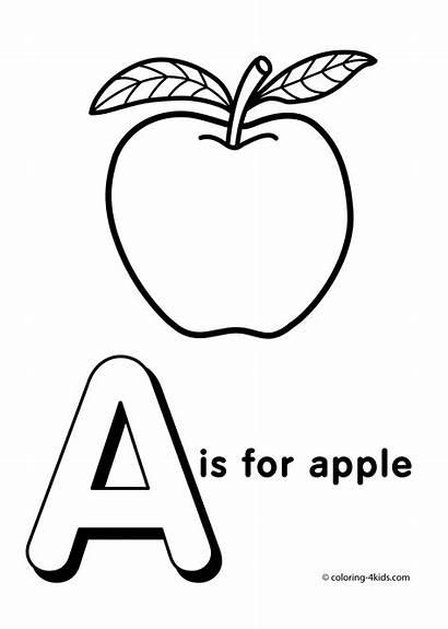 Coloring Alphabet Printable Letter Letters Apple Words