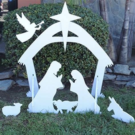 outdoor decorations walmart outdoor nativity with large