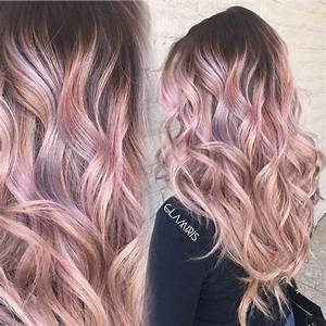 Shell pink hair color pink ombre by Iris Smith. pastel ...