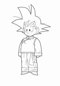 Goten Colouring Pages