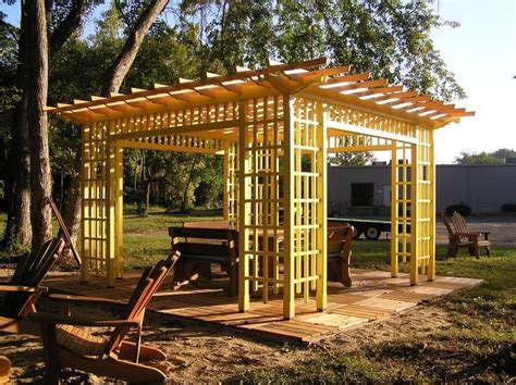 wood pergolas landscaping network