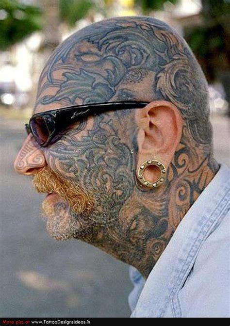 extreme stars vampire face tattoo