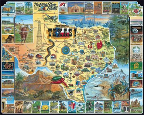 texas jigsaw puzzle places landmarks maps