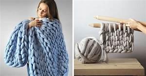 Plaid Laine Grosse Maille : couverture tricot xxl le charme in gal de la grosse laine dite chunky ~ Teatrodelosmanantiales.com Idées de Décoration