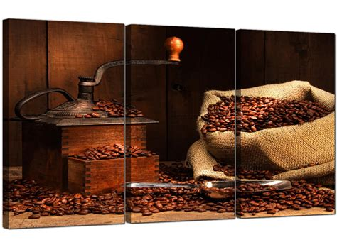 coffee beans canvas wall art set dining room