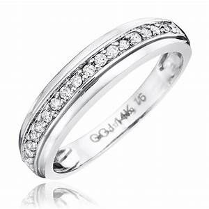 1 3 ct tw diamond his and hers wedding rings 14k white With white gold his and hers wedding rings