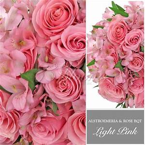 Light Pink Rose & Alstroemeria Monochromatic Bouquets ...