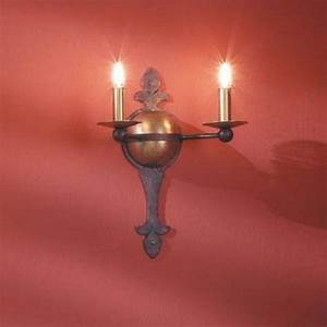 Wandleuchte 2 Flammig : wandleuchte 2 flammig hochwertige schmiedekunst wohnlicht ~ Whattoseeinmadrid.com Haus und Dekorationen