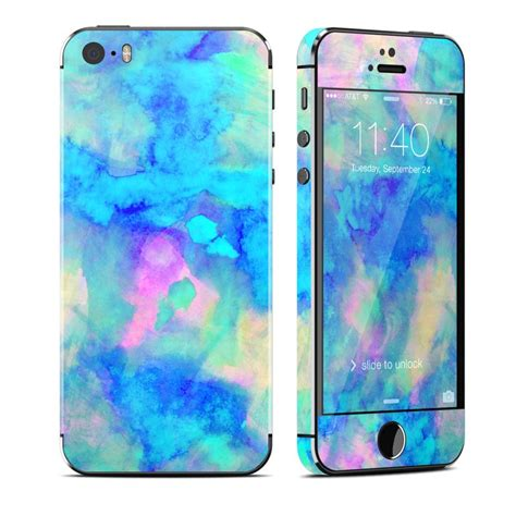 iphone skin apple iphone 5s skin electrify blue by sia