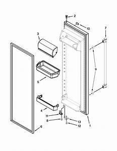 Refrigerator Door Parts Diagram  U0026 Parts List For Model