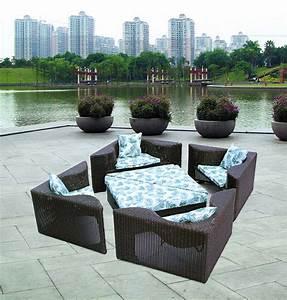 rattan square outdoor furnitureft 9166 With katzennetz balkon mit aluminium rattan garden furniture