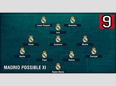Photo Real Madrid formation without Ronaldo and Bale