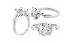 tapered baguette engagement ring your cool engagement ring cushion cut engagement rings tapered baguettes