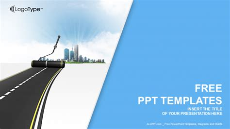 road work industry powerpoint templates