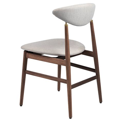 gent fully upholstered dining chair sinequanon american walnut oiled antique brass rouse home