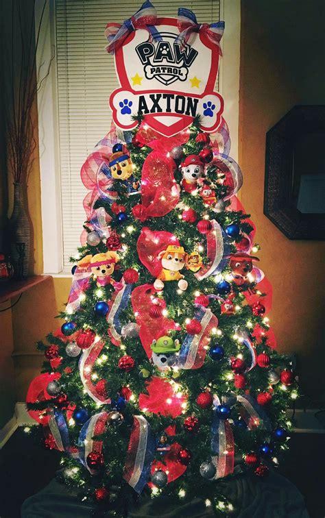 paw patrol christmas tree christmas pinterest paw