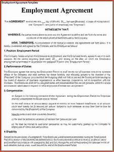 employment agreement letter c45ualwork999org With contract letter format for employees