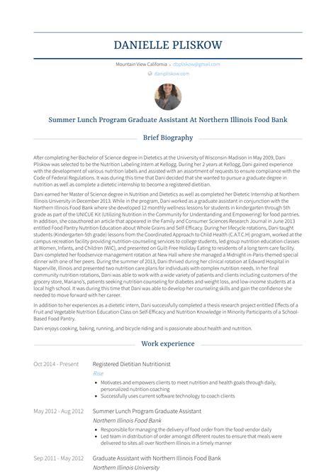 nutritionist resume samples  templates visualcv
