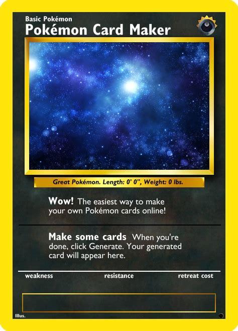 Pokémon Card Maker
