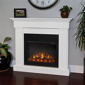 Shop Real Flame 47 4-in W 4,780-BTU White Wood Wall Mount