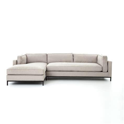 chaise atelier atelier grammercy sectional the khazana home